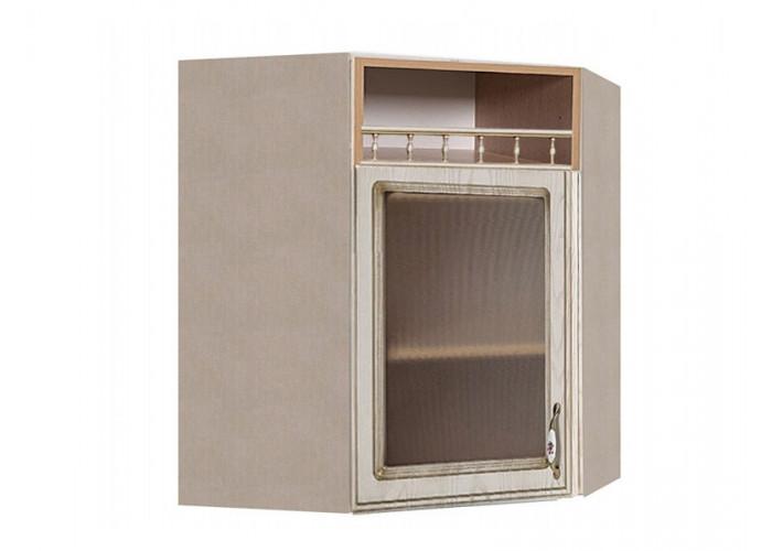 Шкаф угловой с витриной Флоренция ШКН 600УТ ПВ