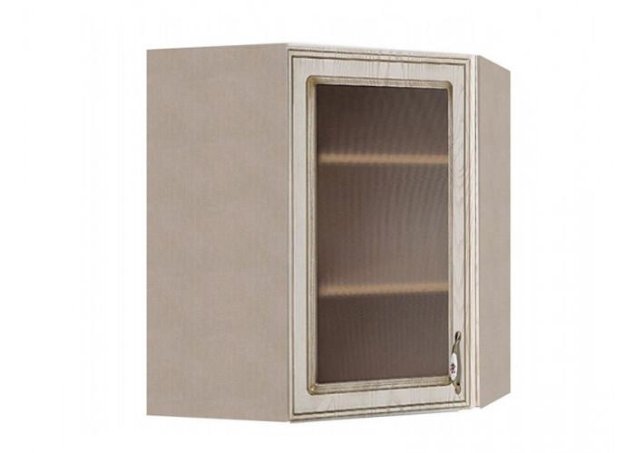 Шкаф угловой с витриной Флоренция ШКН 600УТ В