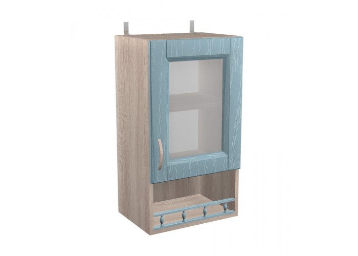 Шкаф с витриной Кантри ШКН 400ПВ