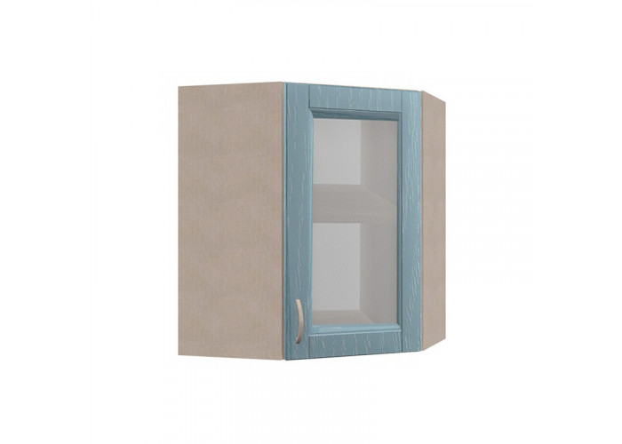 Шкаф угловой с витриной Кантри ШКН 600УТ В