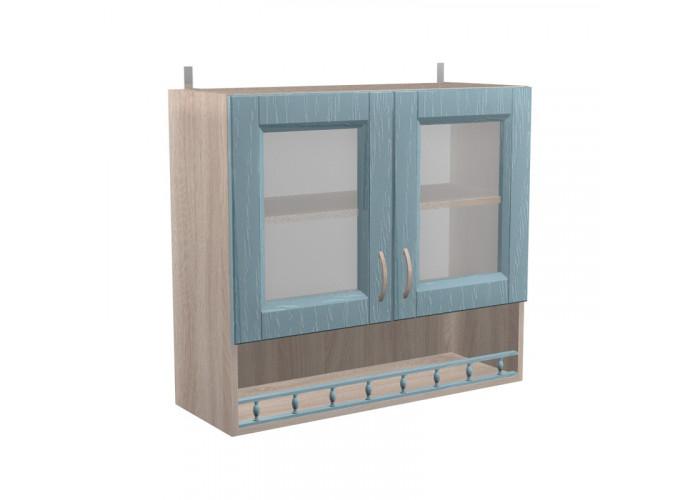 Шкаф с витриной Кантри ШКН 800ПВ