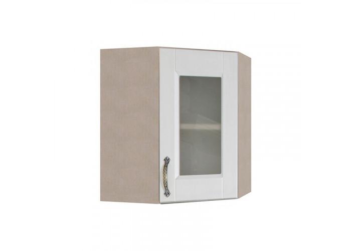 Шкаф угловой с витриной Лофт ШКН 600УТ В