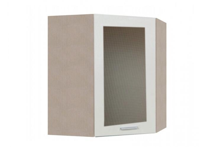 Шкаф угловой с витриной Модерн ШКН 600УТ В