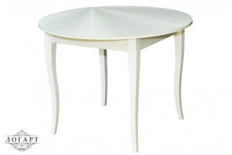 """Кухонный стол со стеклянной столешницей БАЛЕТ СТ №1 """"кабриоль"""""""
