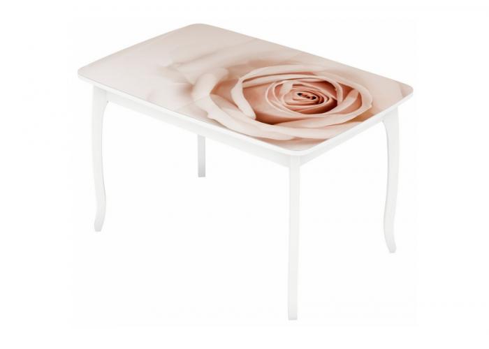 Стол раздвижной №18 (Кремовая Роза)