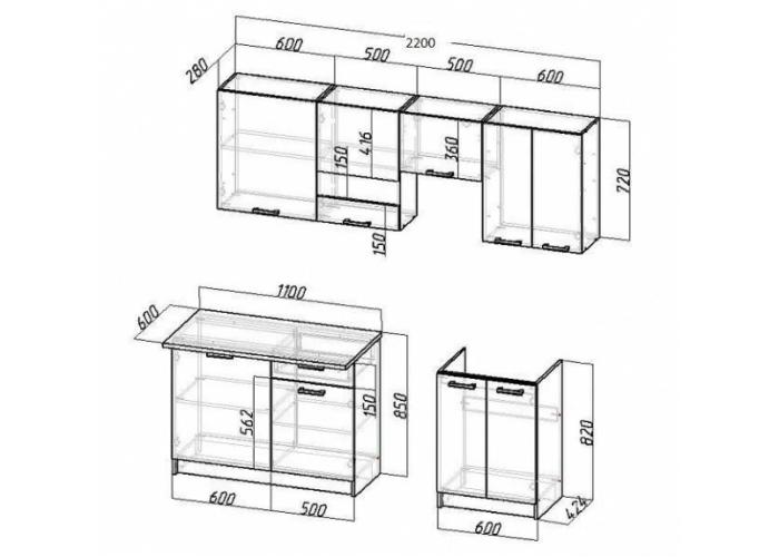 Модульная кухня Неон