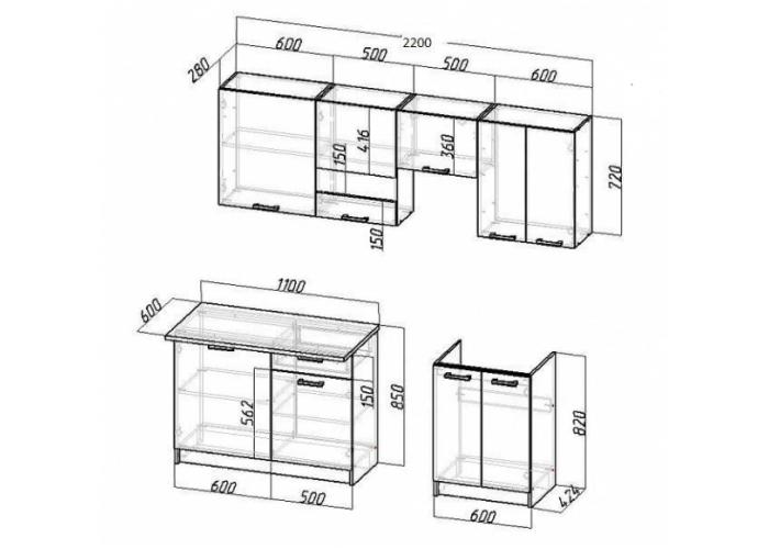 Модульная кухня Ромб