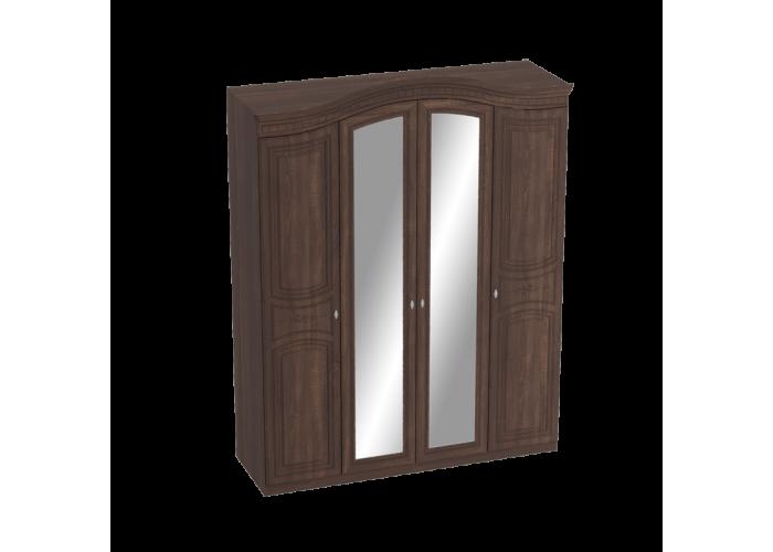 Шкаф 4х дверный Николь Акация