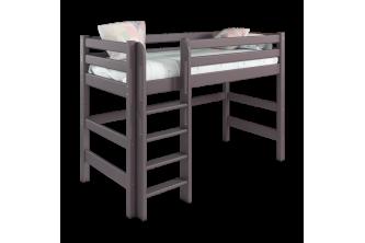 Полувысокая кровать Соня 5 с прямой лестницей