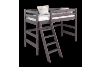 Полувысокая кровать Соня 6 с наклонной лестницей