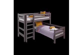 Угловая кровать Соня 7 с прямой лестницей