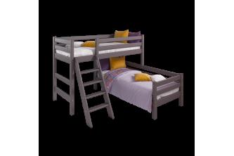 Угловая кровать Соня 8 с наклонной лестницей