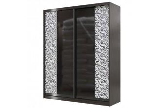 Шкаф-купе 1800 Сан Ремо СР-01 (зеркало+кожа или стекло -лакобель+кожа)