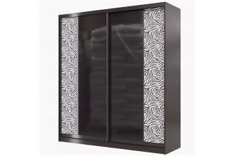 Шкаф-купе 2000 Сан Ремо СР-01 (зеркало+кожа или стекло -лакобель+кожа)