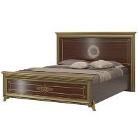 Кровать с изголовьем шелкография Версаль 1600 СВ-03 (ортопедическое основание)