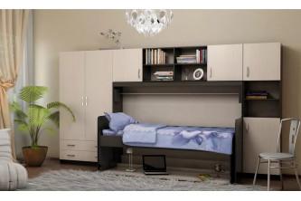 Молодежная модульная комната со столом-кроватью трансформером