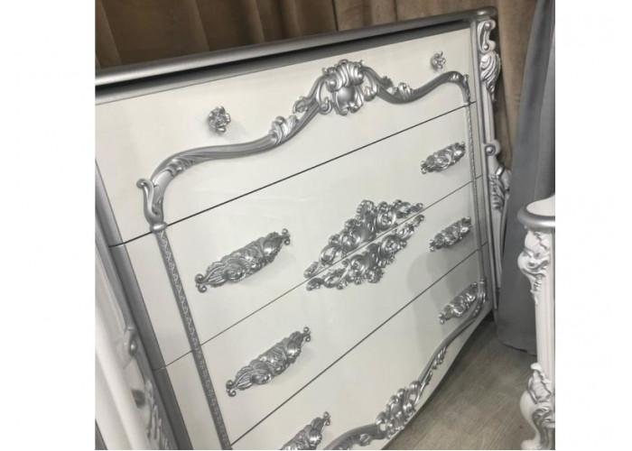 Комод Дольче Вита СДВ-02/белый глянец с серебром или золотом