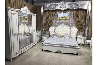 "Спальня ""Дольче Вита"" Белый глянец /Серебро патина"