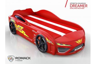Кровать-машина Dreamer Молния красный