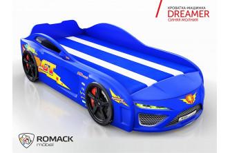 Кровать-машина Dreamer Молния синий