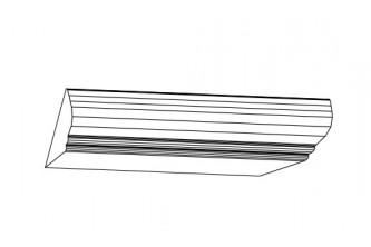 Карниз верхний К-9 (2,44 м) Бьянка