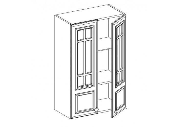 Шкаф навесной 2-х дверный ШСТ-60 Бьянка