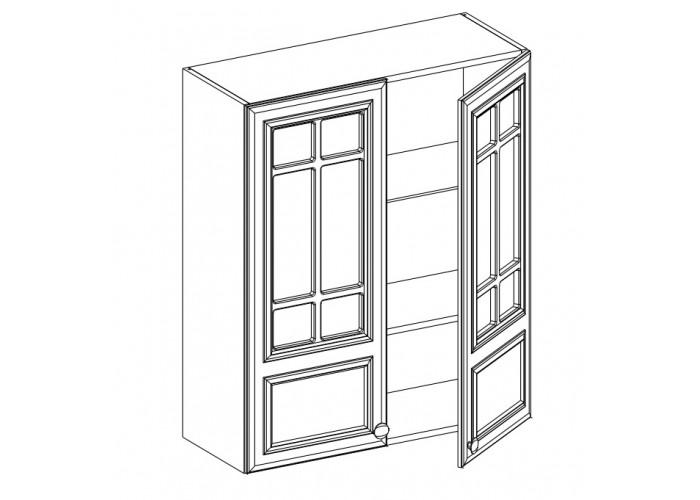 Шкаф навесной 2-х дверный ШСТ-80 Бьянка