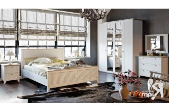 Спальня «Ривьера» (Дуб Бонифацио/Белый)