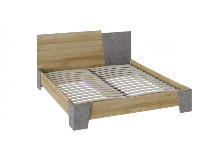 Двуспальная кровать Клео дуб ривьера/моод темный