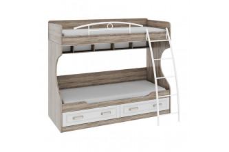 Кровать двухъярусная с металлической лестницей Прованс СМ-223.11.002