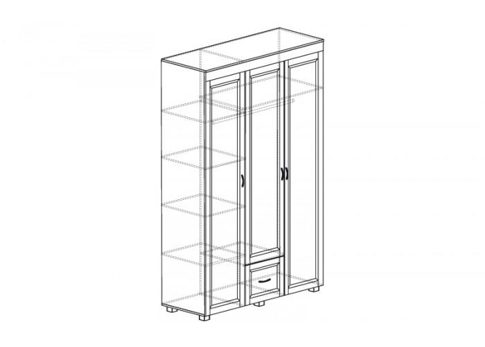 ЙО-01.9-ШК Шкаф для одежды 3-дверный с 1 ящиком Йорк