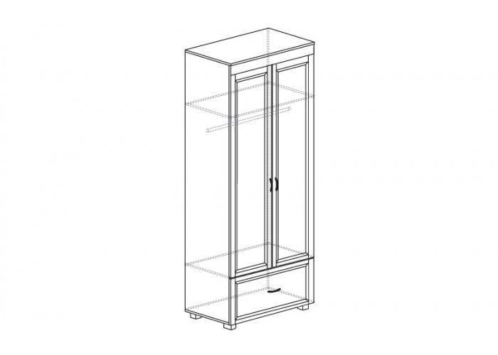 ЙО-02.3-ШК Шкаф для одежды 2-дверный с 1 ящиком Йорк