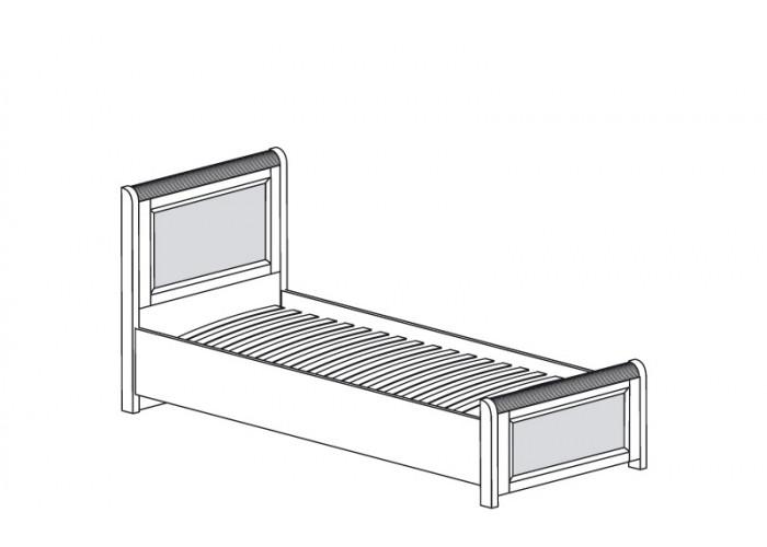 ЙО-46.0-КР Кровать одинарная на 900 Йорк