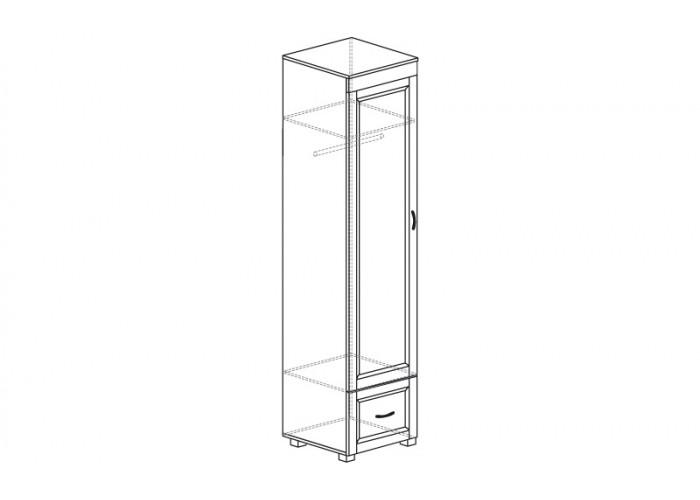 ЙО-03.7-ШК Шкаф для одежды 1-дверный с 1 ящиком Йорк