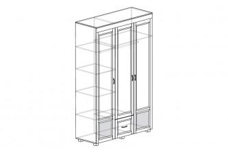 ЙО-01.11-ШК Шкаф для одежды 3-дверный с глянцевыми вставками и 1 ящиком Йорк