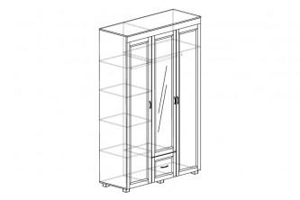 ЙО-01.8-ШК Шкаф для одежды 3-дверный с зеркалом и 1 ящиком Йорк
