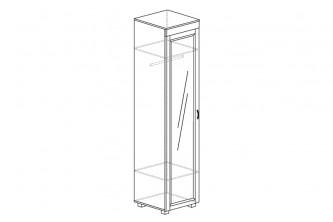 ЙО-03.2-ШК Шкаф для одежды 1-дверный с зеркалом Йорк