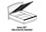 Модуль №368 Кровать 1600 с подъемным механизмом Афины