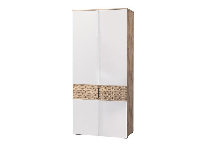 Модуль №70 Шкаф 2-дверный Дели Белый супермат