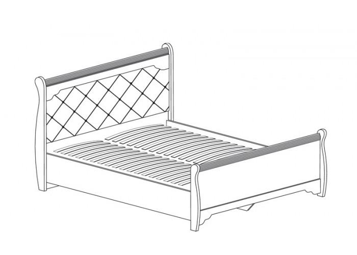 Модуль №658 Кровать с подъемным механизмом и низким изножьем Флоренция