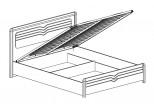 Модуль №156 Кровать 1600 с подъемным механизмом Фьорд