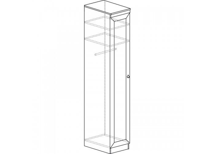 Шкаф для одежды Инна №614 денвер светлый