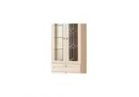 Шкаф для книг Инна №611 (полки ДСП) Денвер светлый