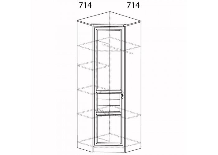 Шкаф угловой (угол 714х714) Лира №57