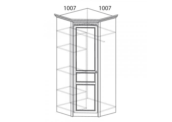 Модуль №183 Шкаф угловой (угол 1007х1007) Лючия