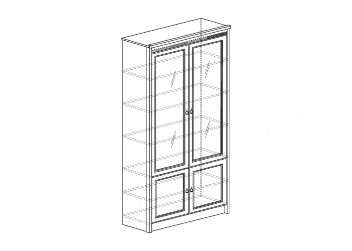 Модуль №184 Шкаф для книг Лючия