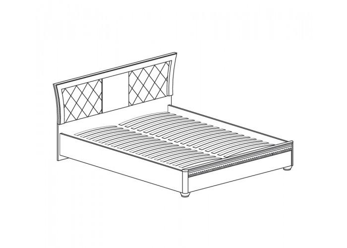 Модуль №198 Кровать двойная 1600 с мягким изголовьем Лючия