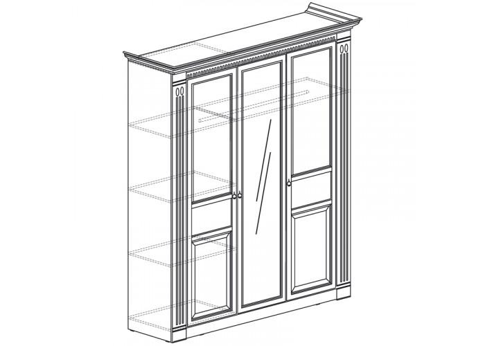 Модуль №180 Шкаф для одежды 3-дверный Лючия