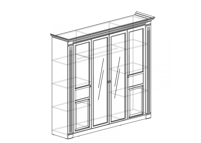 Модуль №203 Шкаф для одежды 4-дверный Лючия