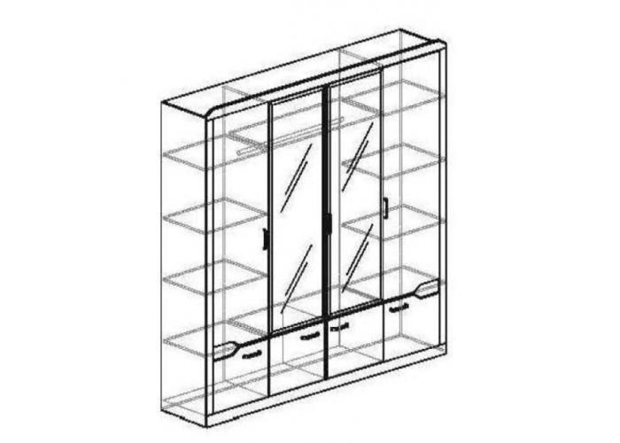 Модуль №321 Шкаф 4-дверный Ронда